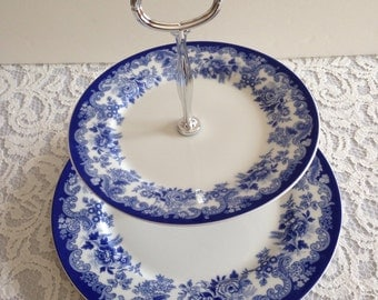 Spode Blue Meadow 2 Tier Serving Tray