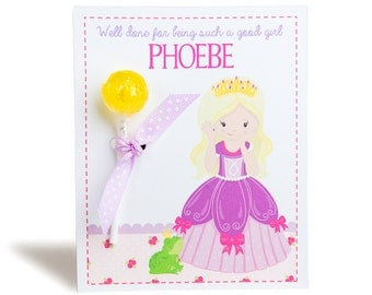 Personalised Princess Lollipop Note