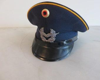 Vintage  West German Alkero Albert Kempf Kg Military Officer's Hat