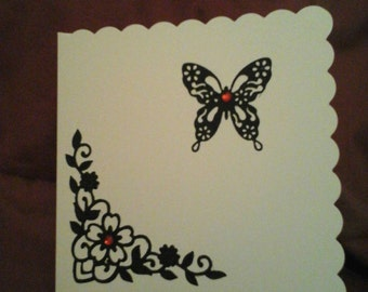 Greeting card. Silhouette collection