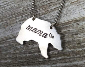 Mama Necklace- Mama Bear-Gift for Mom