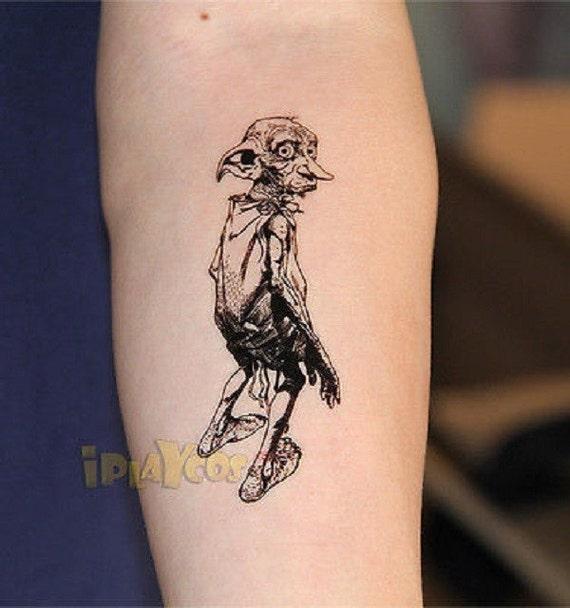 dobby of harry potter temporary tattoo dobby elf tattoo