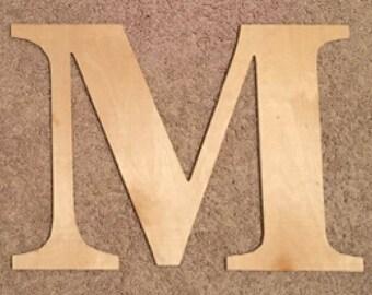 Wooden Greek Letter