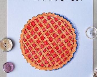 Jam tart illustration art print