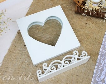 Wedding Sand Ceremony Set-Sand Ceremony Heart Frame&Stand for Frame-Unity shadow sand ceremony box-Sand Shadow Box Frame Stand-Rustic-Gift