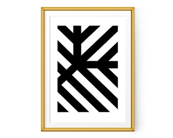 Geometric poster, Modern wall print, Geometric print 11x14 and 8x10