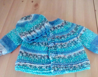 Baby Sweater & Hat set - REDUCED