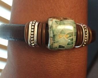 Ceramic focal bracelet