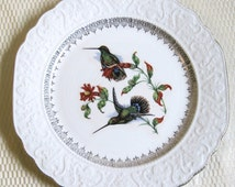 Vintage Decorative Hummingbird Plate, Stratford by Wood & Sons