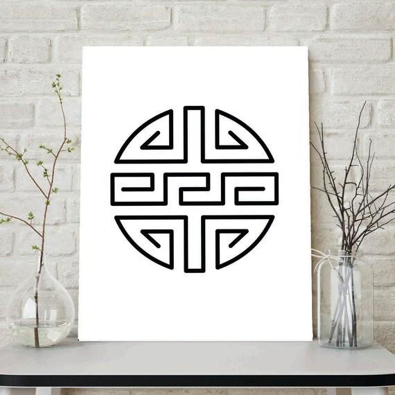 Asian Symbol Wall Art 17