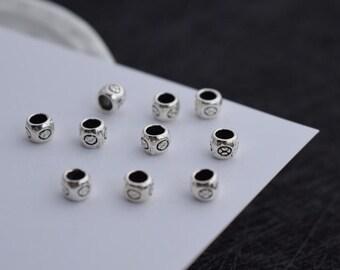 10 pcs sterling silver spacer beads bead spacers  LJX7