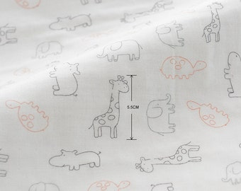 "Cotton Fabric - Animals - 19.5"" x 55"" JJ515"