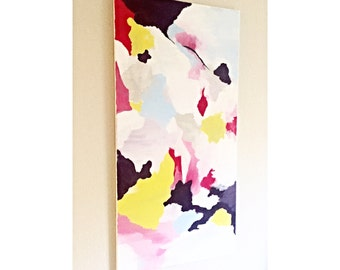 Colorful Abstract Acrylic Painted Canvas