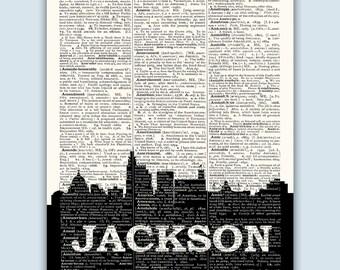 Jackson Skyline, Jackson Poster, Jackson Decor, Jackson Print, Jackson Wall Art, Jackson Gift, Jackson Wall Decor, Jackson Mississippi