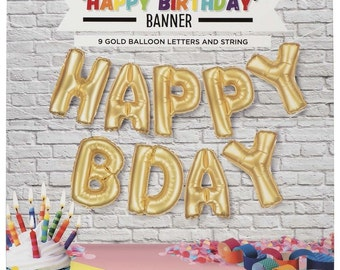 Happy Birthday Large Inflatable Banner