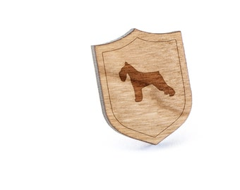 Schnauzer Lapel Pin, Wooden Pin, Wooden Lapel, Gift For Him or Her, Wedding Gifts, Groomsman Gifts, and Personalized