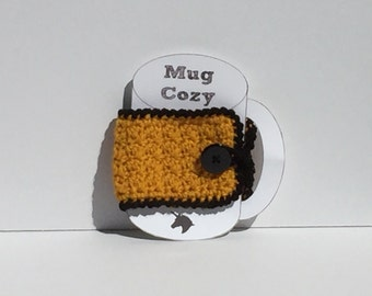Crochet Gold Mug Cozy