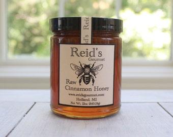 Reid's Raw Cinnamon Honey 12oz Glass Jar