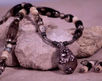 Buddhist Deer Amulet necklace
