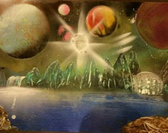 original spray paint artwork