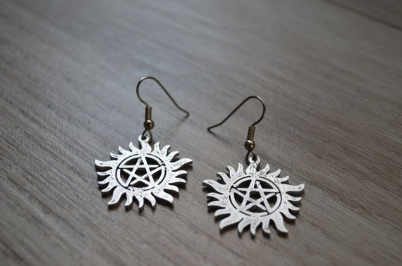 protection supernatural earrings by