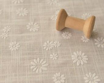 0.5 meter Cotton Linen floral Jacquard Fabric, plain Fabric, Jacquard fabric, fabric for Dress , wide 59.05'' (3-313)