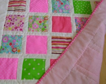 Crib/Cot Quilts pinks & Blues