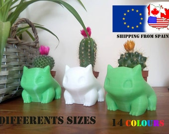 Pokemon Bulbasaur Planter printed 3D Different Sizes. Cute and adorable gift