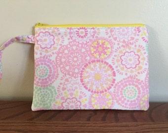 Wristlet/clutch purse - Pretty in Pink