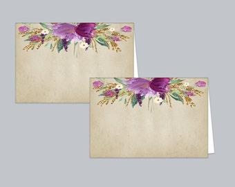Rustic Bridal Shower Food Tent Cards, Table Tent Cards, Bridal Food Label Cards, Rustic Tent Cards, Vintage Label Cards, Printable