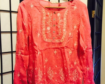Bubble Gum Pink Summer Blouse - Small
