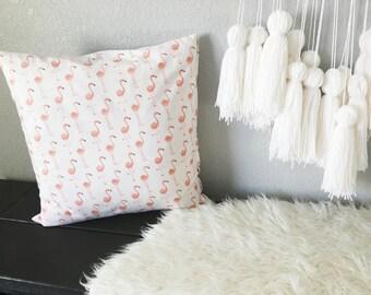 Flamingo pillow, nursery pillow, girly pillow, flamingo print, pillow