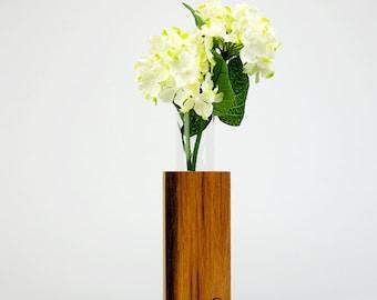 Wood vase - old oak