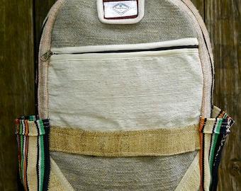Handmade Hemp backpack; PureHemp Co.