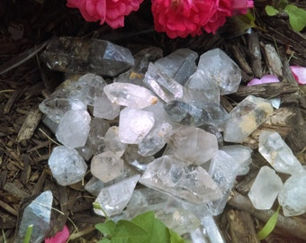 1/2 pound Tibetan quartz crystals bulk raw quartz crystal Himalayan crystals Tibetan crystals terminated crystal points clear quartz Tibetan