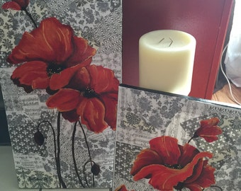Red Poppy Collage