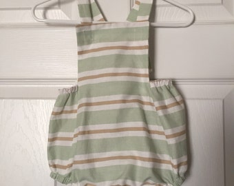 Mint Stripes Romper