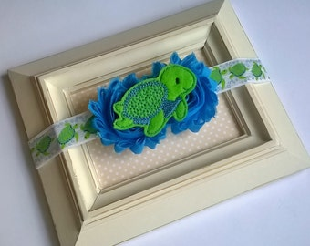 T is for Turtle - Infant/Toddler Headband
