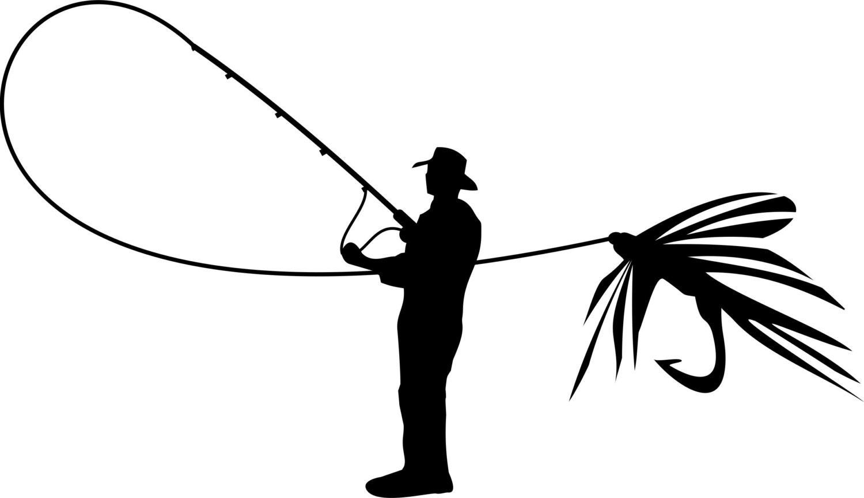 fly fishing vinyl decal