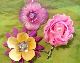 Girls Trio Bobby pin hair pins accessories