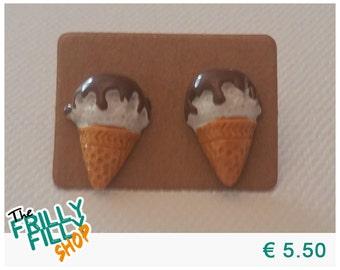 Ice Cream Cone Earstuds