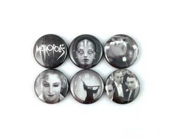 "Metropolis (1927) - 1"" Button Pin Set"