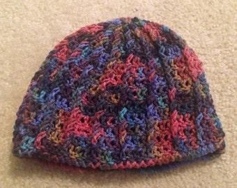 Mutli-Color Crocheted Beanie