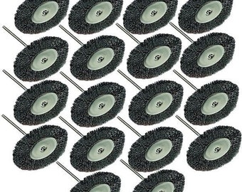 RT- 530B ; 18PC Steel Wire Wheel Brushes Dremel Accessories For Rotary Tools