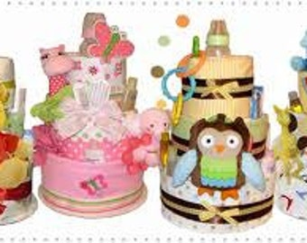 Diaper Cake Surprise 2 Tier *baby sbower  or reborn gift*