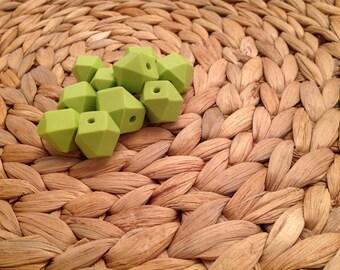 Wasabi geometric beads