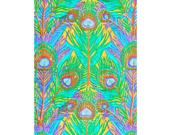 peacock, print, wall art, home