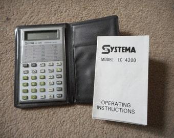 Vintage Systema Calculator LC 4200