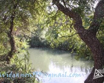 Landscape Photography,Jordan river,Israel photo,Holy land,jordan israel,Nature photo,Wall decor,Print photo,Enhanced photo,Framed canvas