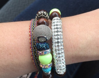 Sparkle Bar Duo Stack Bracelets